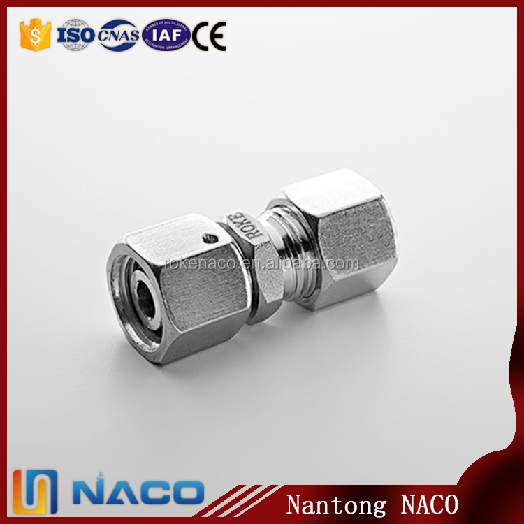 Stainless Steel 304 Straight Type Hydraulic Swivel Nut Hose Fitting