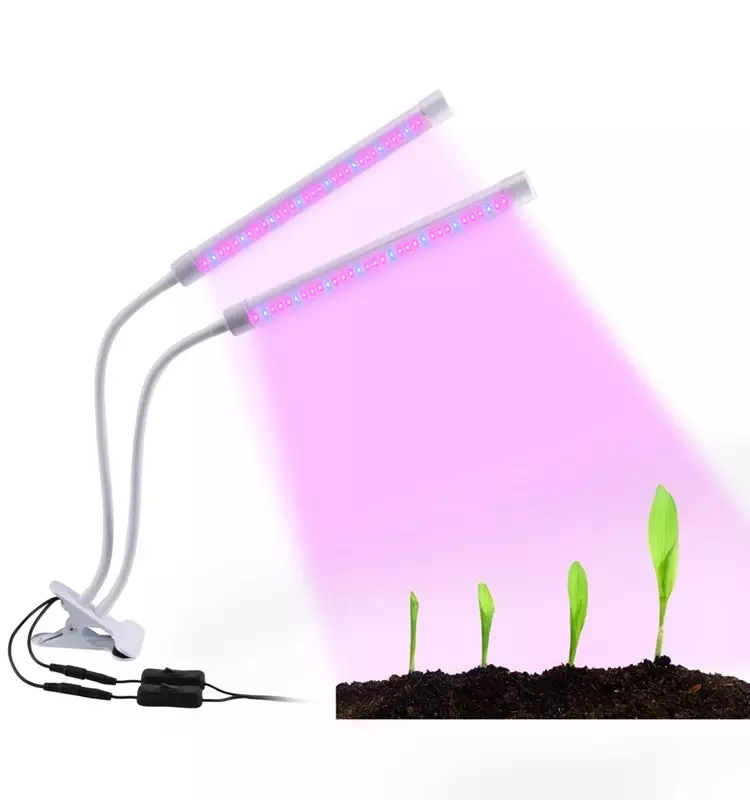 2018 Newest High Efficient Adjustable dual head clip led grow light timer 18W