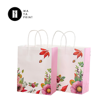 Suit use Laminated material custom made recyclable white gift craft paper bag for shopping