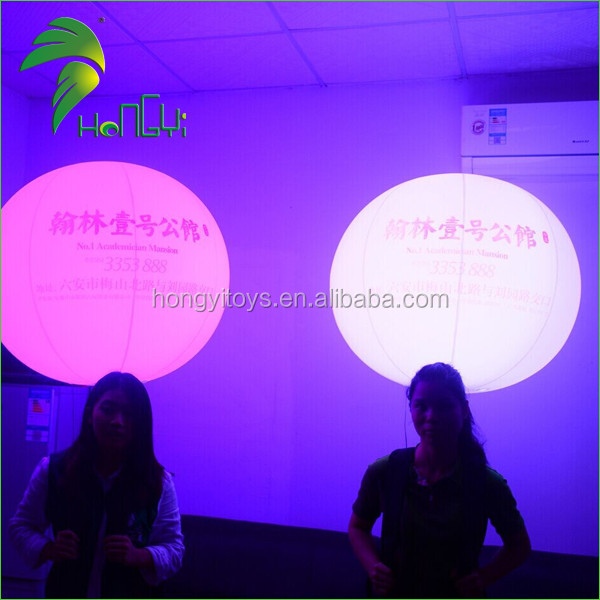 Moving Advertising Inflatable Backpack Ball with LED Light