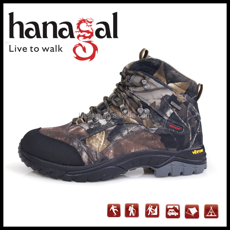 2016 cheap price waterproof camouflage hunting boots