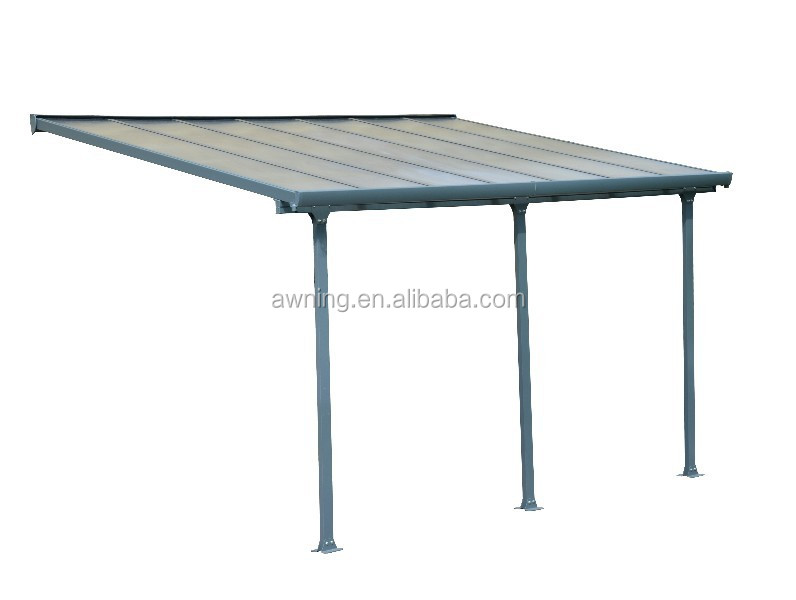 2015 New Style Aluminium Patio Roofing With Plycarbonate
