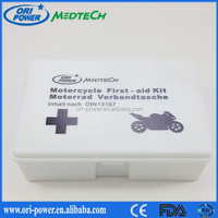 Manufacturer DIN 13167 Germany CE FDA approved oem wholesale promotional motorcycle vehicle emergency kit
