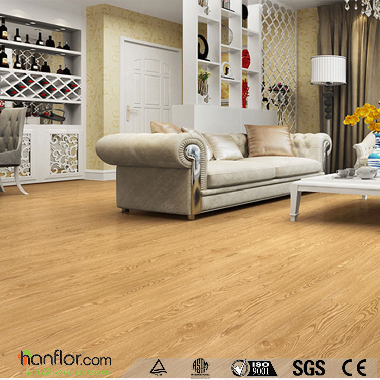 Click system wooden solid color tranquility vinyl flooring planks