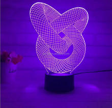 Abstract Patterns Led Color Changing Plug In Night Light