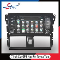 7 inch quad-core audio car navigation for Toyota Yaris 2014 with gps tracker