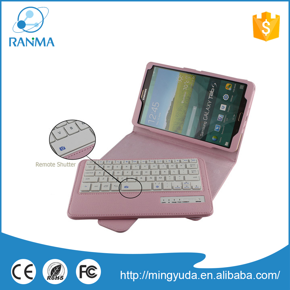 Smart tablet pc portable wireless keyboard case for samsung