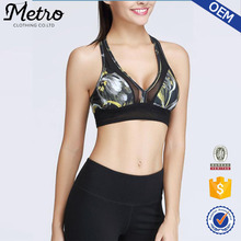 Fashion Printed Lady Yoga Bra Tops Manufacturer