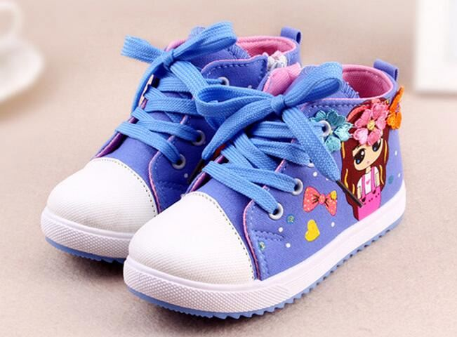 Children Shoes 2016 New Spring Autumn Kids Breathable Canvas Fashion Girls shoes