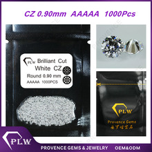 Wholesale Price AAAAA Grade 0.9mm White Round Brilliant Cut Synthetic Signity CZ