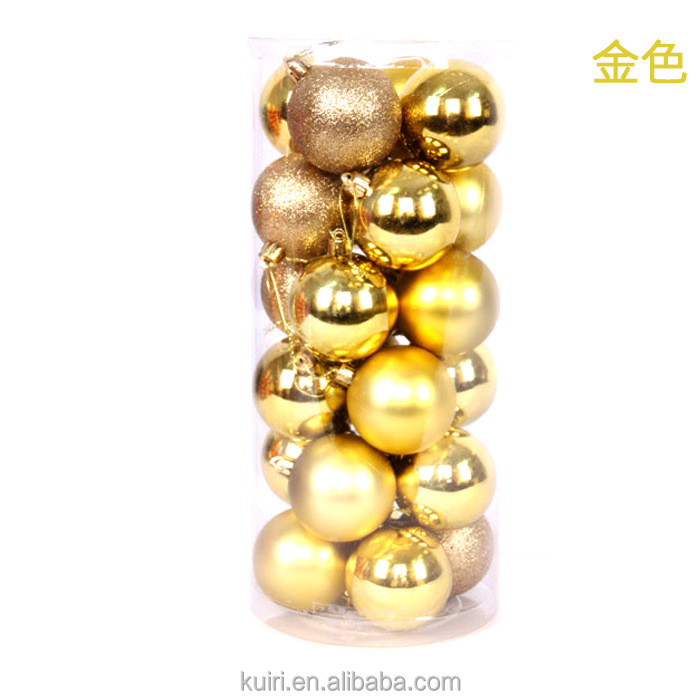 24pcs Xmas Decorative 4cm 6cm New Year Christmas Tree Decorations Christmas Balls for Home Decor