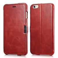 Vintage leather classic ultra-slim wallet flip premium PU case with card holders for iPhone 6 or 6 plus