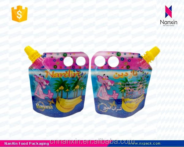 big cap baby juice stand up pouch with spout