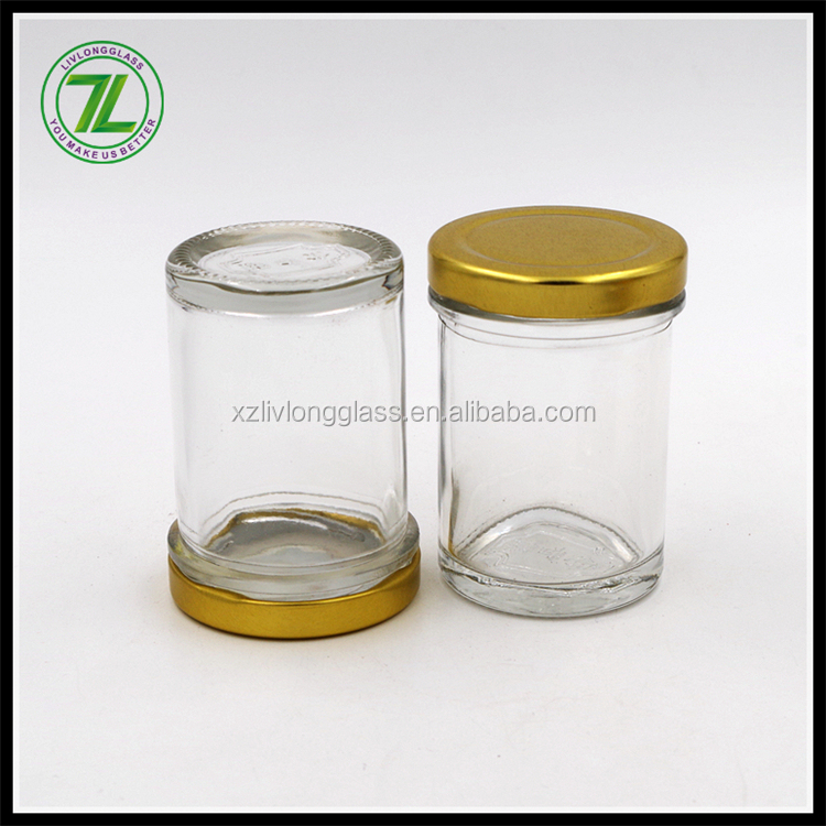 3oz straight side glass canning jar with lug lid