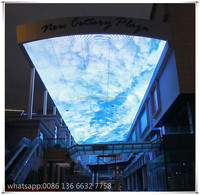 shopping mall ceiling decoration jumbo flexible/oled/led Sky screen