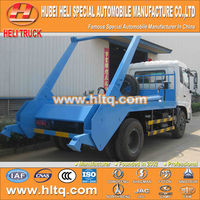 DONGFENG 4x2 10cbm 190hp swinging arm garbage truck roll off garbage truck sanitation vehicle best sale in China