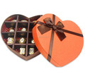 heart shaped gift box chocolate packaging boxes wholesale with ribbon