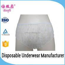 High quality nonwoven pictures of women in transparent underwear with printing