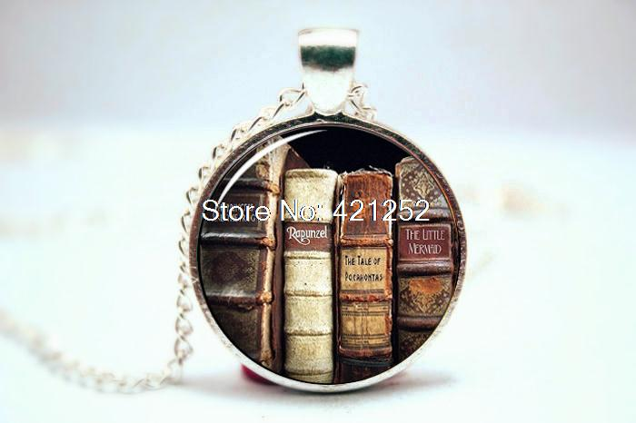 10PCS Book Necklace - Reader Necklace - Literary Jewelry - Gift for a writer reader teacher - Reader Jewelry - Book lover