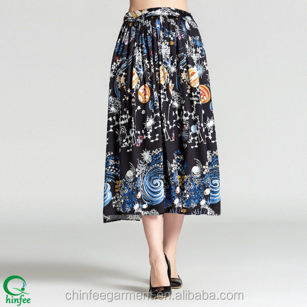 Fashion High Waisted Floral Print Skirts For Women