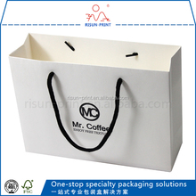 Wholesale custom paper bag be made of art paper high quality bag with glossy lamination
