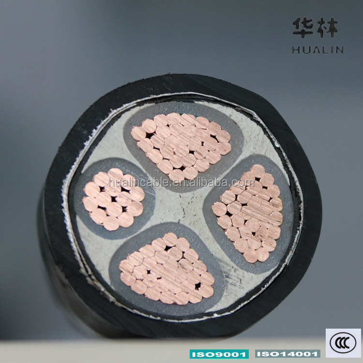 HUALIN 150mm 70mm 4 Core Cable 3c + 1c 4 Core Armored/Armoured Cable