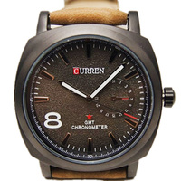 2016 new fashion classic curren 8139 brand design leather band men male classic luxury clock wrist quartz business sport watch
