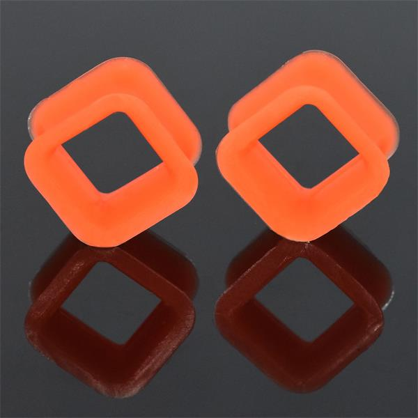 Wholesale fexible flesh tunnel square silicone ear tunnel gauges