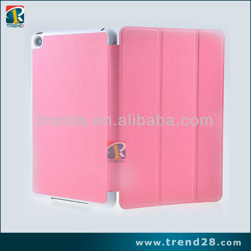 smart slim stand leather case for mini ipad with imitation of the original design