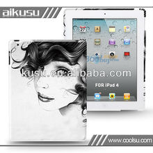 2013 custom case for ipad new with pc and water transfer process