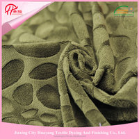 china supplier make-to-order embossed bubble micro minky dot fabric for home textile
