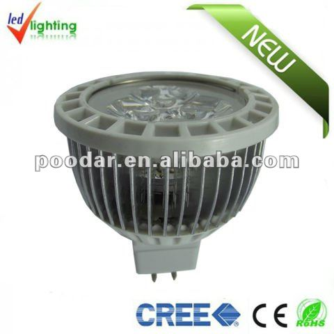 cree 5w high lumiere mr16 fixture led spot light