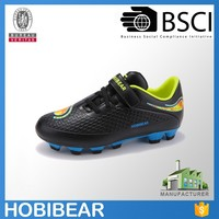 HOBIBEAR 2016 wholesale junior black outdoor shoes soccer cleats football boots