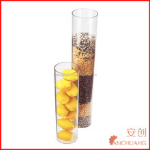 5mm round clear acrylic display vase food storage vase