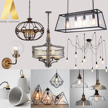 Hot sales industrial vintage glass metal pendant lamp