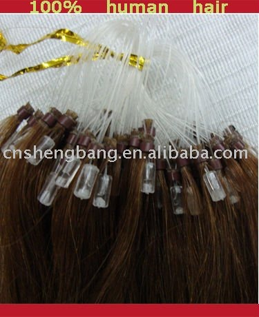 Loop hair extension/Micro ring with silicon inside ,best quality