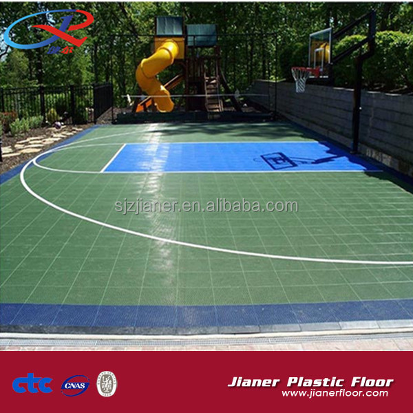 2013 Hot Sale Popular Multi-use Excellent modular tile Suspended Indoor PP Interlocking Sports Futsal Flooring