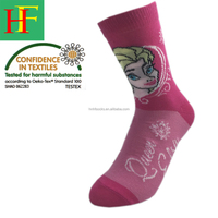 cartoon socks for children or girls Elsa Anna