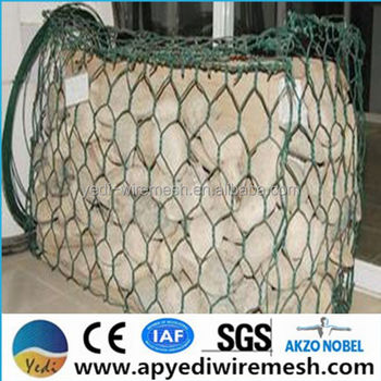 factory supply gabion mesh basket,pvc coated