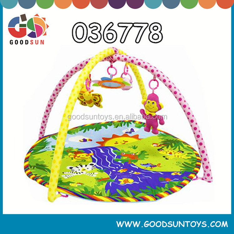 2015 Colorful cheap promotional padded baby play mat educational kids toy floor mat soft play mat with sides