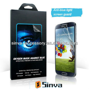 High quality of Anti-blue light anti uv screen protector for Sumsung Galaxy S3 with manufacturer supply