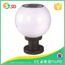 Dia 200Mm 250Mm 300Mm 400Mm Solar Gate Powered Garden Lamp Post Pillar Light