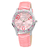 Water Resistant Hot Colorful Lady PU Leather Bracelet Watch Women with Shining Diamonds