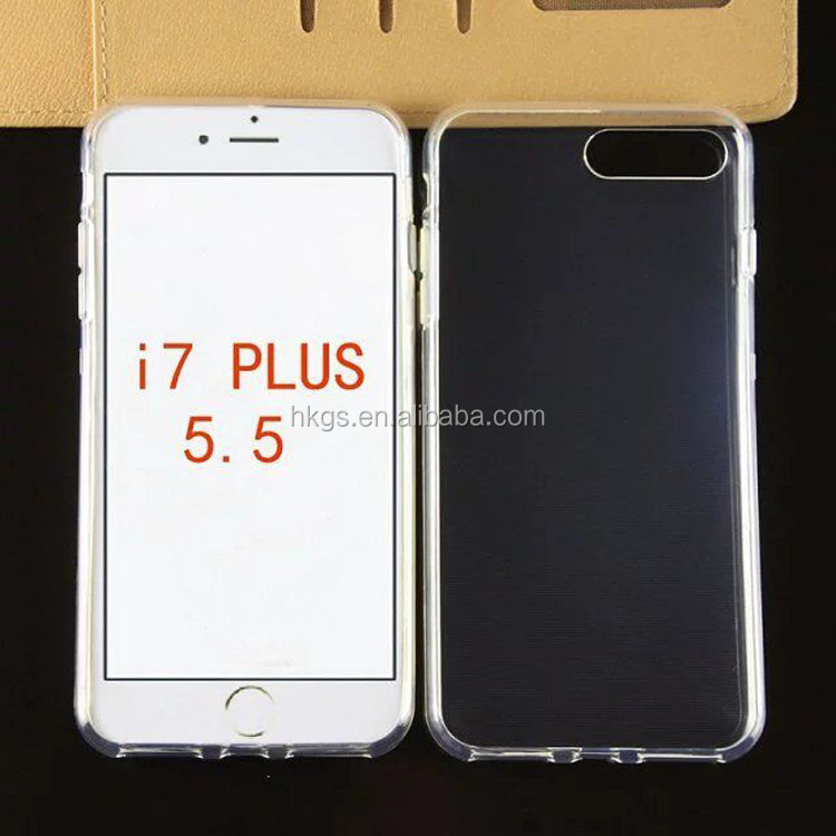 Factory Price Transparent TPU For iPhone 7 Plus Case Cover