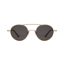 2019 new arrival Retro Round Circle Metal sunglasses black Titanium sunglasses men