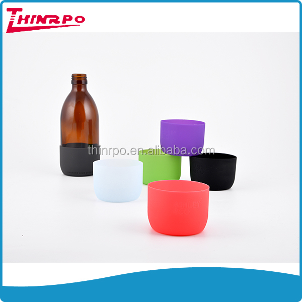BPA free silicone glass bottle silicone sleeve