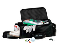Black Leather Golf Shoe & Accessory Bag