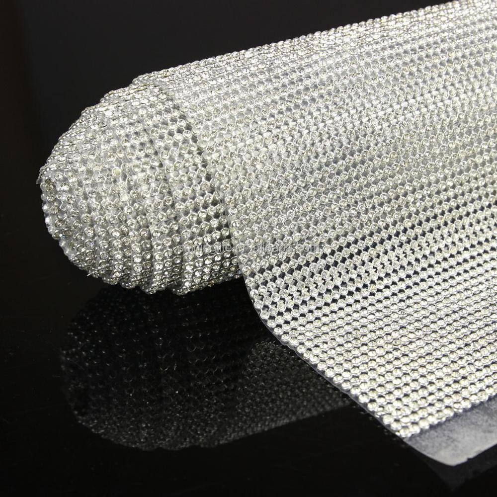 Shiny China manufacture mental rhinestone mesh for clothes
