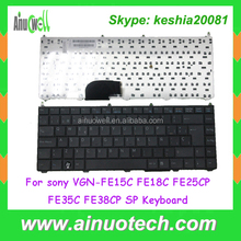 Spanish Keybord for sony VGN-FE FE15C FE18C FE25CP FE35C FE38CP SP Laptop Replacement Keyboard