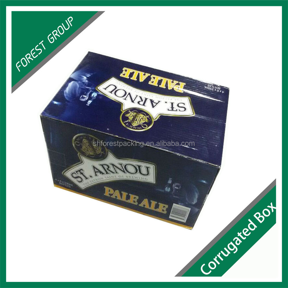CUSTOM PRINTING CORRUGATED BOX CORRUGATED VODKA SHIPPING BOX